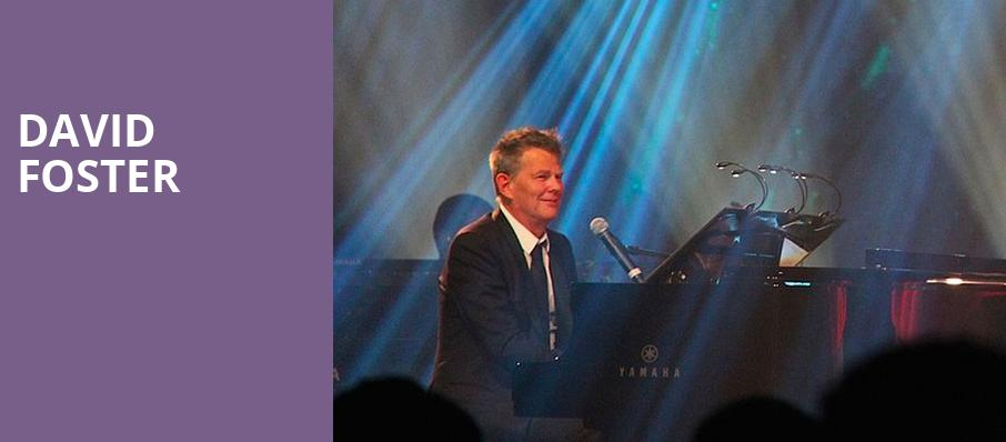 David Foster, Peace Concert Hall, Greenville