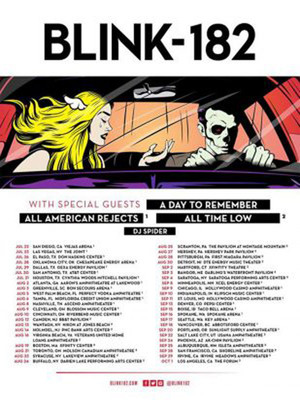 Blink 182 A Day to Remember All American Rejects, Bon Secours Wellness Arena, Greenville
